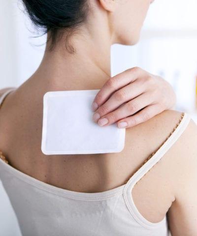 Applying 40mg Pain Patch scaled Hemp Infused Pain Patch Hempvita CBD